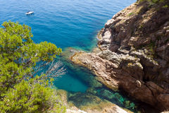 Costa Brava landscape near Tossa de Mar Royalty Free Stock Photos