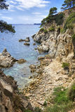 Costa Brava landscape near Tossa de Mar, Spain. Royalty Free Stock Photography