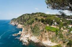 Costa Brava landscape near Tossa de Mar in Spain Royalty Free Stock Image