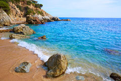 Costa Brava Lloret De Mar Beach Camins De Ronda Stock Photography