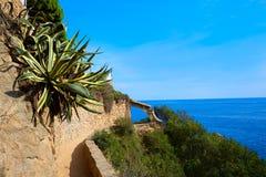 Costa Brava Lloret de Mar beach Camins de Ronda Stock Images