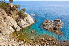 Costa Brava Lloret de Mar beach Camins de Ronda Stock Photography