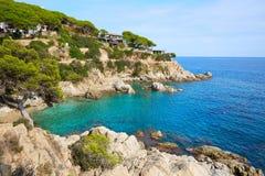 Costa Brava Lloret de Mar beach Camins de Ronda Stock Image