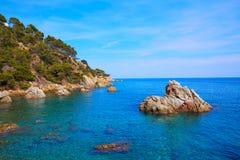 Costa Brava Lloret de Mar beach Camins de Ronda Royalty Free Stock Images