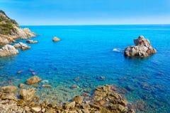 Costa Brava Lloret de Mar beach Camins de Ronda Royalty Free Stock Photos