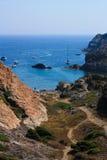 Costa Brava, Mediterrabeab. Spanje Stock Afbeelding
