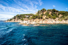 Costa Brava. Near Tossa de Mar Stock Photos