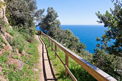 Costa Brava Pathway. Following the seashore Stock Photography