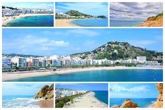Costa Brava photo collage Stock Image