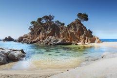 Costa Brava plaża, Catalonia, Hiszpania obrazy royalty free