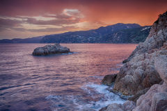 Costa Brava Rock Coast HDR Royalty Free Stock Images