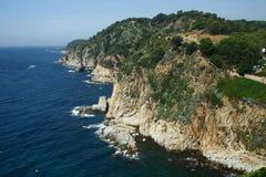 Costa Brava-rotsen Stock Foto