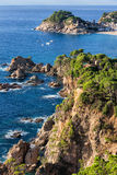 Costa Brava Sea Coast in Tossa de Mar Stock Photo