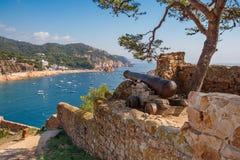 Costa Brava, Spagna di Tossa de marzo Immagine Stock Libera da Diritti