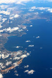 Costa Brava, Spain - view from plane royalty free stock images