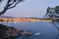 Costa Brava twilight Stock Image