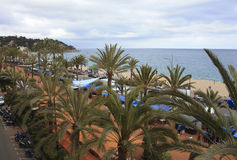 Costa Brava, walk along the promenade. Spain. Walk along the promenade in Llorette-de-mar Royalty Free Stock Photos