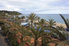 Costa Brava, Weg entlang der Promenade Lizenzfreie Stockfotos