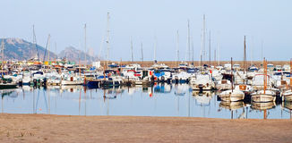 Costa Brava - Yacht club Royalty Free Stock Photos