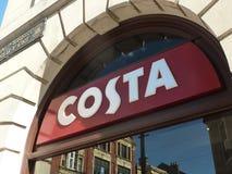 Costa caffe embleem royalty-vrije stock afbeelding