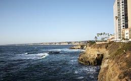 Costa California, los E.E.U.U. del océano de La Jolla Fotos de archivo
