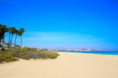 Costa Calma beach of Jandia Fuerteventura Stock Photos