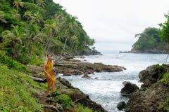 Costa caraibica colombiana vicino al confine del Panama Fotografie Stock Libere da Diritti