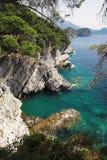 Costa cerca del Petrovac, Montenegro Fotografía de archivo libre de regalías
