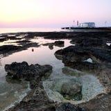 Costa Chipre de Protaras do amanhecer Fotos de Stock Royalty Free