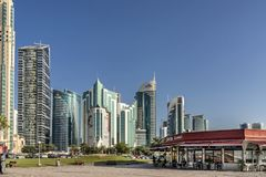 Costa Coffe shop on the Corniche in Doha Qatar stock photography