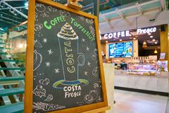 Costa Coffee foto de stock
