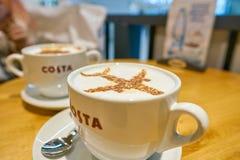 Costa Coffee imagen de archivo libre de regalías