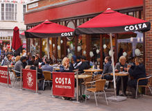 Costa Coffee-afzet in Canterbury, Kent Royalty-vrije Stock Afbeelding