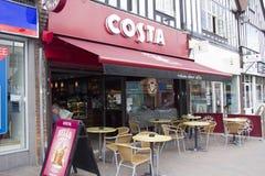 Costa Coffee Shop. England. Kent. Circa. 07.07.2014. A shop front of a Costa Coffee shop. Costa is a British multinational coffeehouse Stock Photography