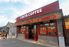 Costa Coffee-winkel in Peking, China Royalty-vrije Stock Foto