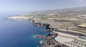 Costa con le coltivazioni della banana, Spagna di Tenerife Fotografie Stock Libere da Diritti