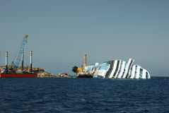 Costa Concordia Royalty Free Stock Photo