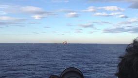 Costa Concordia, aankomst bij de haven van Genua stock video