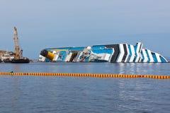 Costa Concordia Cruise Ship Shipwreck Royalty-vrije Stock Foto's