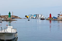 Costa Concordia Cruise Ship Shipwreck Stock Photography