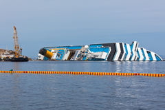 Costa Concordia Cruise Ship Shipwreck Royalty Free Stock Photos