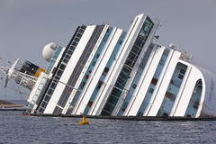 Costa Concordia Cruise Ship after Shipwreck Stock Photos