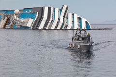 Costa Concordia Cruise Ship after Shipwreck Royalty Free Stock Photography