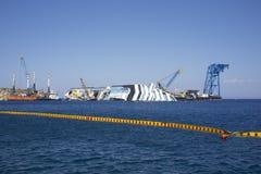 Costa concordia disassembly shipyard Stock Image
