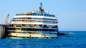 Costa Concordia Disaster Royalty Free Stock Image