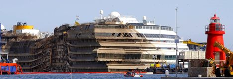 Costa Concordia Disaster Royalty Free Stock Images