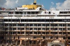 Costa Concordia haveri i Genoa Harbor Royaltyfria Foton