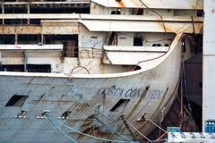 Costa Concordia haveri i Genoa Harbor Fotografering för Bildbyråer