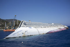 Costa concordia shipwreck Stock Photography