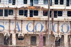 Costa Concordia wreck in Genoa Harbor Royalty Free Stock Images